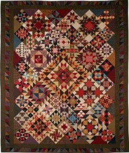 Patchwork Sampler pattern--NOT made with aboriginals.  Wait until you see the difference.